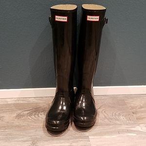 Hunter Gloss Black Rainboots